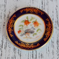 Мини-тарелочка FRANKLIN PORCELAIN BIRD TUFTED TITMOUSE pf-001/17