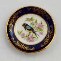 Мини-тарелочка FRANKLIN PORCELAIN BIRD BARN SWALLOW pf-001/6