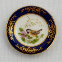 Мини-тарелочка FRANKLIN PORCELAIN BIRD BLACK CAPPED CHICKADEE pf-001/5
