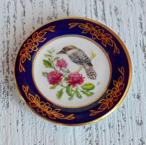 Мини-тарелочка FRANKLIN PORCELAIN BIRD KOOKABURRA pf-001/7
