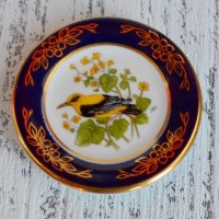 Мини-тарелочка FRANKLIN PORCELAIN BIRD GOLDEN ORIOLE pf-001/15