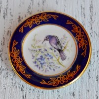 Мини-тарелочка FRANKLIN PORCELAIN BIRD PURPLE SUNBIRD pf-001/12