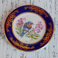 Мини-тарелочка FRANKLIN PORCELAIN BIRD EAST BLUEBIRD pf-001/11