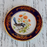 Мини-тарелочка FRANKLIN PORCELAIN BIRD BLUE WREN pf-001/8
