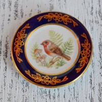 Мини-тарелочка FRANKLIN PORCELAIN BIRD EUROPEAN ROBIN pf-001/16