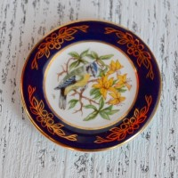 Мини-тарелочка FRANKLIN PORCELAIN BIRD BLUE TIT pf-001/20